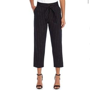 NWT The Limited Signature Crop Pinstripe Tie Pants